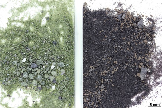Lunar soils samples in glass dish_cFerriere